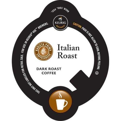 Barista Prima Italian Roast, Vue Pack for Keurig Vue Brewers (72 Count) by Barista Prima CoffeehouseTM Italian Roast Coffee