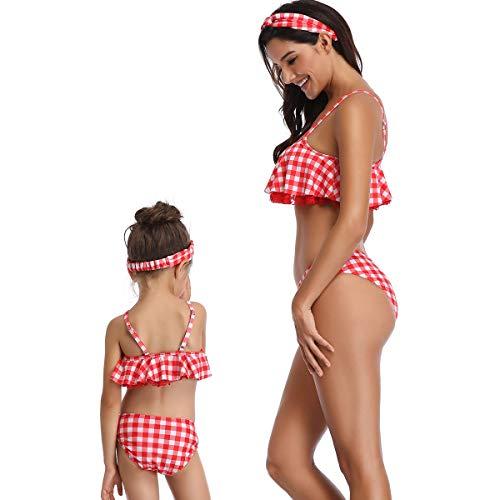Maillot Mère Bain Trikini Tankini Swimwear Correspondant 13 Spa Couleur Surf De Famille Bikini Up Assorti Chic Natation fille Beachwear Push Vêtement Swimsuit wErxE