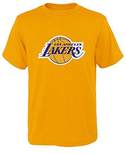 Outerstuff Los Angeles Lakers NBA Youth Jersey Cotton T-Shirt - Yellow L