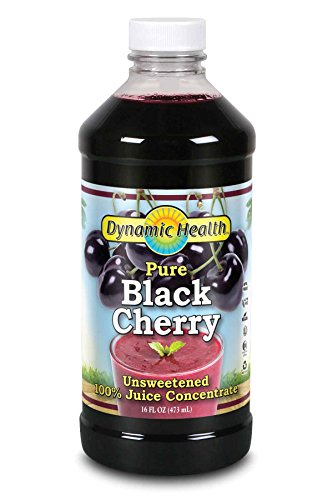 Dynamic Health 100% Pure Black Cherry Juice Concentrate | No Additives | Antioxidant | Urinary Tract & Joint Support | 16 Servings (Packaging Varies) (Dynamic Health Cranberry Juice Concentrate 16 Oz)