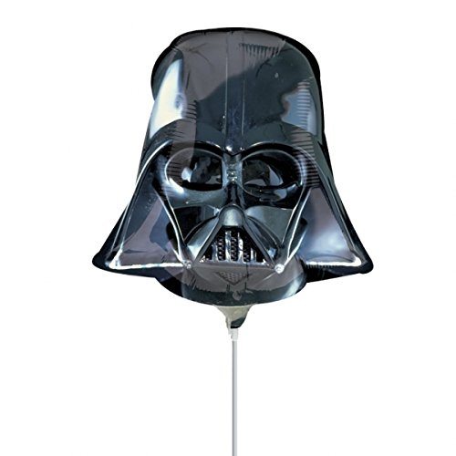 Star Wars Shaped Balloon - Anagram Star Wars Darth Vader Shaped Mini Foil Balloons on Sticks x 3