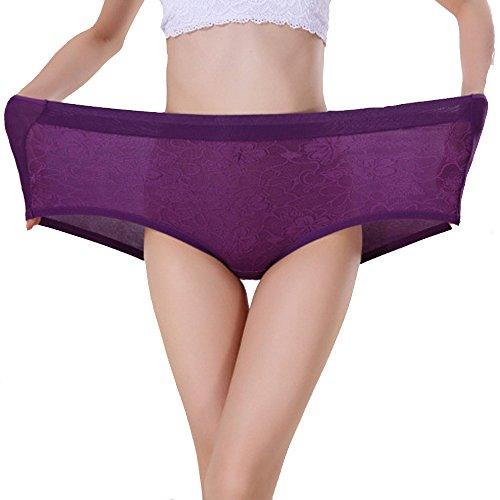 4ba968777b3 TEERFU Womens 5Pack Bamboo Underwear High Waist Full Boxers Briefs  Boyshort