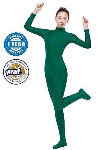 Lycra Spandex Bodysuit Full Bodysuit Unitard Women Zentai Suit Long Sleeve Turtle Neck Turtleneck Unitard