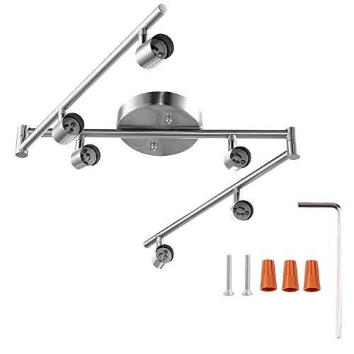 6-Light Adjustable LED Dimmable