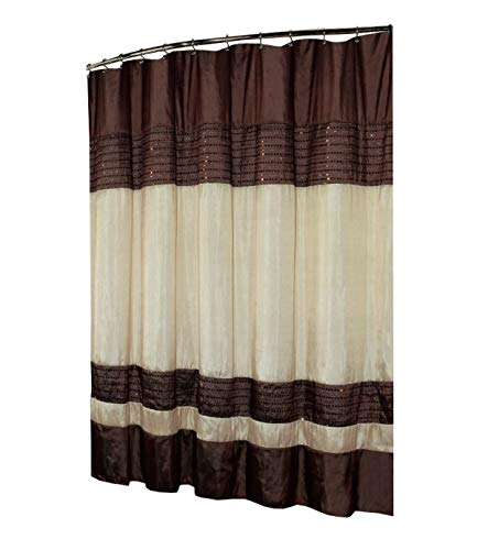 Ibiza Shower Curtain 70x72, Brown Ivory