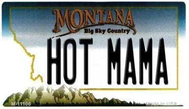 Amazon Com Bargain World Hot Mama Montana State License Plate Novelty Magnet Sticky Notes Home Kitchen