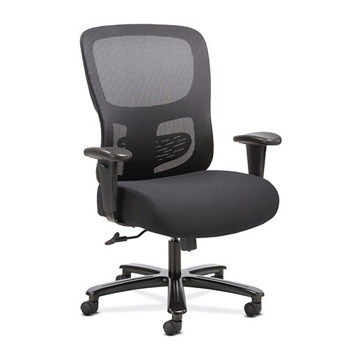 basyx by HON Big and Tall Office Computer Chair, Height Adjustable Arms with Adjustable Lumbar, Black (HVST141) by HON