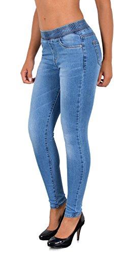 Ceinture Jean tex by Femme Jeggings avec ESRA pour Skinny Pantalon J291 J366 Femmes lastique Femme Skinny EYS44Axq
