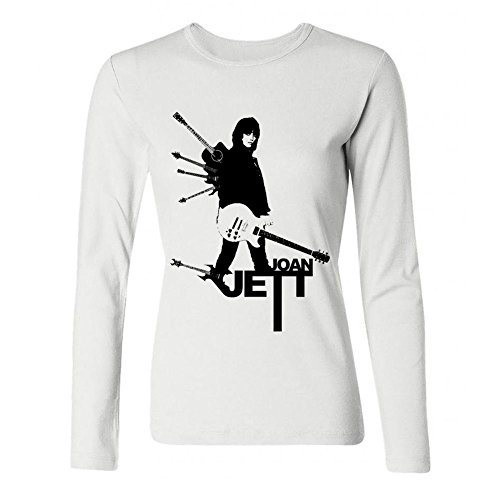 LSLEEVE Women's Joan Jett - I Love Rock 'n' Roll Long Sleeve T-shirt White -