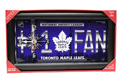 Toronto Maple Leafs #1 Fan NHL Logo Quartz Clock. Framed Clock Can Hang Or Stand.Size : 33.5