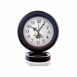 CJSHVR Wooden watch room silent clock creative ornaments,B