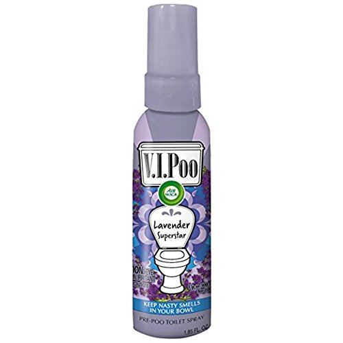 Toilet Deodorizer Drops - Air Wick V.I.Poo Toilet Perfume Spray, Lavender Superstar, 1.85oz