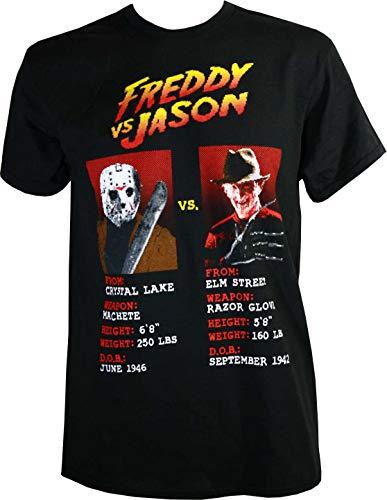 Freddy Krueger/Jason Voorhees Pixel Shirt, X-Large Black -