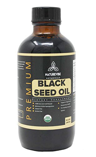 Organic Black Seed Oil (1/2lb) by Naturevibe Botanicals, Gluten-Free, Raw & Non-GMO (8 ounces)
