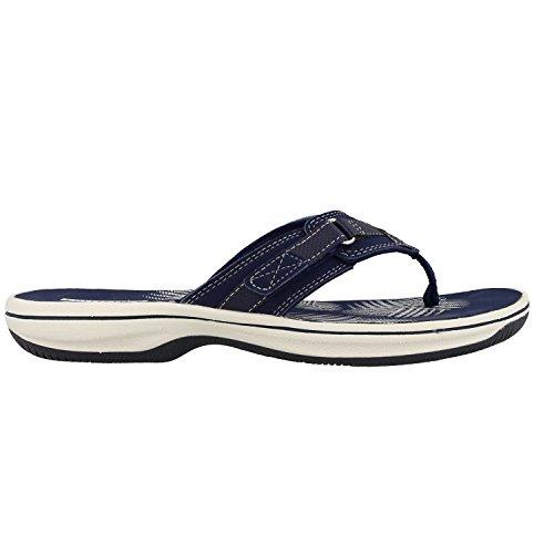 Clarks Sea Para Mujer Chanclas Brinkley Azul Trqx0T4w
