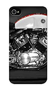 (cnhyor-5005-vctmcmj)durable Protection Case Cover With Design For Iphone 5/5s(engines Yamaha Vehicles Photography Motorbikes Bikers Cafe Racer )