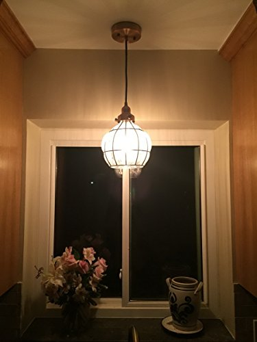 Yobo Lighting Vintage Cracked Glass Amp Rustic Wire Ceiling