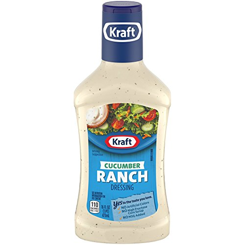 Kraft Cucumber Ranch Anything Dressing, 16-Ounce Plastic Bottles (Pack of 6)