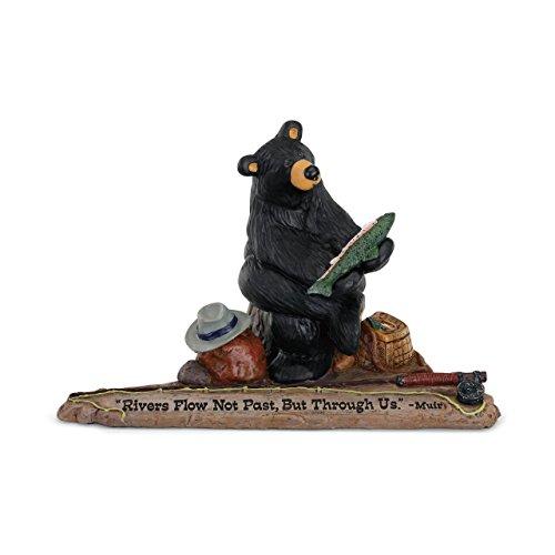 DEMDACO Rivers Flow Black Bear 6 x 9 Hand-cast Resin Figurine Sculpture