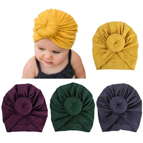 b42132535564cd BQUBO Floral Bow Newborn Hat Newborn Hospital Hat Infant Baby Hat Cap with  Big Bow Soft
