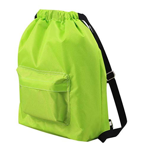 Pool Swimming EUzeo Backpack Dry Separation and Drawstring Green Wet Swim Waterproof Ewwqrf