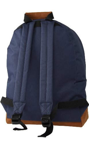 Mi-Pac Rucksack Klassik, Schwarz, 41 x 30 x 15 cm, 740001 001 Blau