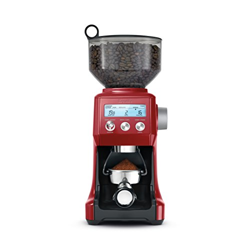 Buy Discount Breville BCG820CRNXL Smart Grinder, normal, Cranberry Red