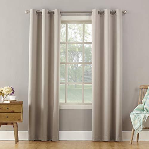 Sun Zero Becca Energy Efficient Grommet Curtain Panel 40 X 63 Stone