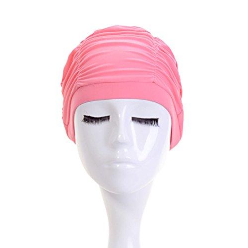 BUKUANG Bonnet De Bain Dame Super Modèles Protection Auditive Des Produits De Spa,Pink
