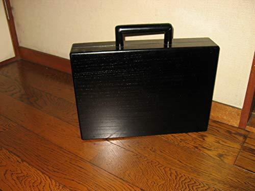 桐製アタシュケース 黒ウレタン塗装   B07G9SQLRL