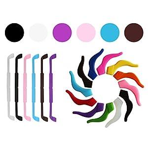 SHINKODA Kids Sports Safety Sunglasses / Eyeglasses Holder Strap and Ear Hook Set Eyewear Retainer For Boys Girls - Pack of 6 - Multi Color