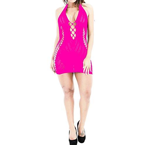 Price comparison product image Women Lingerie,  Ninasill  Hot Sale ! Lingerie Babydoll Dress Underwear Sleepwear Chemise Dress (rose)