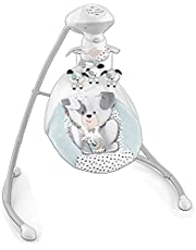 Fisher-Price Dots & Spots Puppy Swing, dual-motion baby swing chair with music, sounds, and motorized mobile