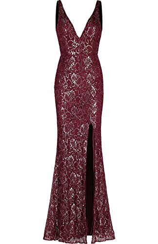 Lace Back Evening Gown - 2