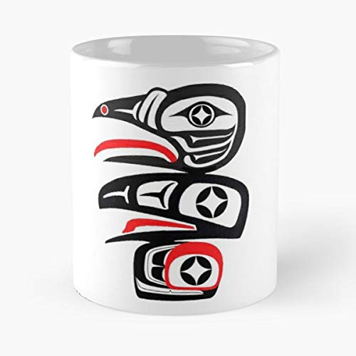 - Raven Pacific Northwest Totem Tlingit - Funny Gifts For Men And Women Gift Coffee Mug Tea Cup White 11 Oz The Best Gift Holidays.