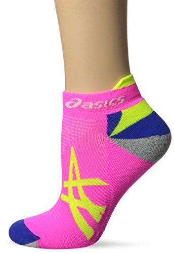 ASICS Mix Up Your Run Low Cut Sock, Medium, Pink Glow/Safety Yellow