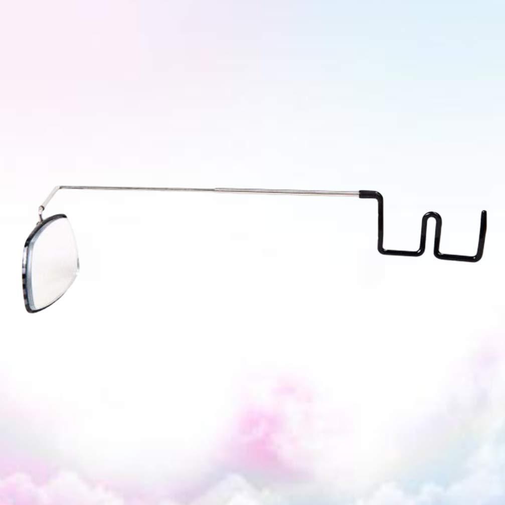 LIOOBO Espejo de Gafas de Ciclismo Universal Ajustable de 360 ??/° Espejo de Bicicleta de Gran Angular Espejo retrovisor