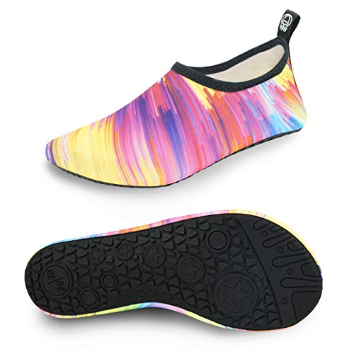 Aqua Shoes Summer Outdoor Swimming Slipper On Surf Beach Men Women Water Shoes Colorful Women Size 10.5 11.5 / Men Size 9.5 10.5 ()