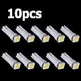 10x AMPOULE T5 LED SMD BLANC POUR COMPTEUR TABLEAU DE BORD DC12V Lampe TUNING lumiere voiture feux