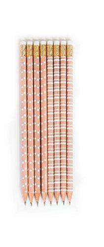 Girly Dot - The Pink Orange TPO-0016E 8 Pencils, Kraft