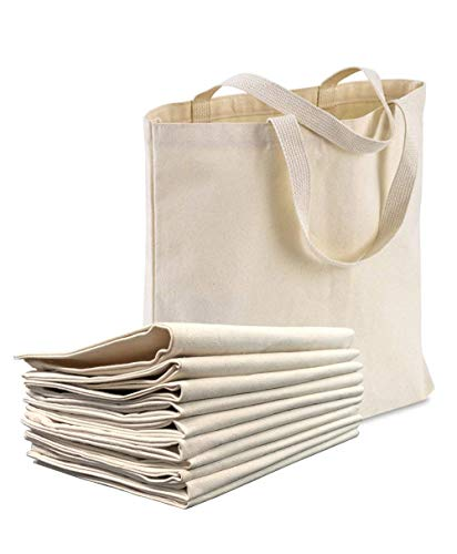 1 Dozen - Heavy Cotton Canvas Tote Bag (Natural) by ()