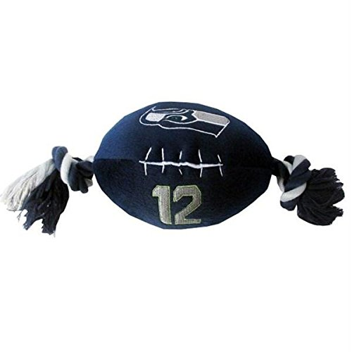 Pet Care Preferred Seattle Seahawks''12th Man'' Football Pet Toy by Pet Care Preferred