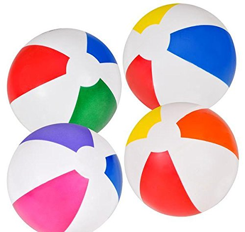 5'' VINYL BEACH BALLS, Case of 1 by DollarItemDirect