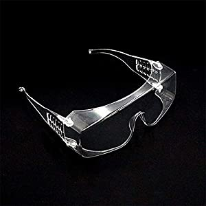 DXSS Safety Goggles with Transparent Anti-Fog Lenses, Transparent Crystal Goggles, Dust-Proof and Splash-Proof Goggles