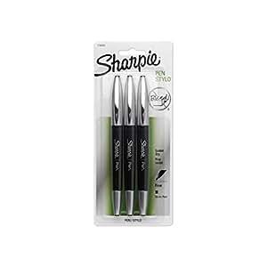 Sanford Sharpie Grip Pens, Fine Point, 3-Pack, Black (1758052)