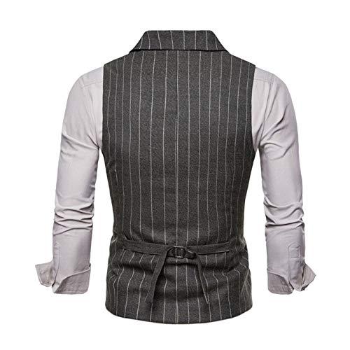 Hommes Formel Boutonnage Fit Costume Business V Classique Veste Armygreen Sans Bmeig Simple Col Rétro Slim Manches Gilet Tweed 4RFwU