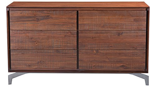 Colville Acacia Wood Double Dresser, Chestnut