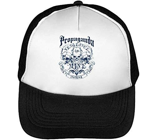 Beisbol Vengeance Snapback Negro Blanco Gorras Hombre Propaganda wH4qIxATT