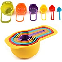 TIMEXING Rainbow Measuring Spoon with Scale 6 Sets of Milk Powder Spoon Kitchen DIY Baking