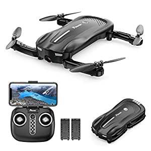 Drone with Camera for Adults, Potensic D18, 1080P Live Video FPV WiFi Drone, Foldable Portable Quadcopter with Double Batteries, 16-20 Min, Optical Flow, Anti-Collision RC Drone for Beginner and Kids 41Rl1gwP0KL
